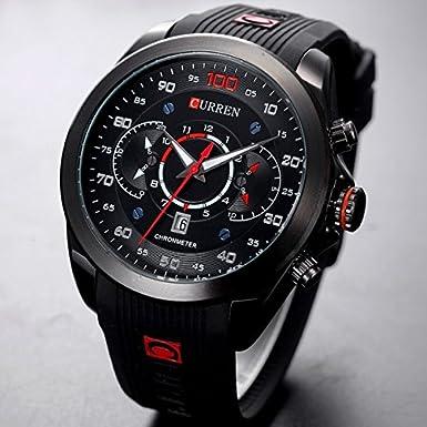 Amazon.com: Relojes de Hombre Cronógrafo De Cuarzo De Moda Para Caballeros RE0114: Watches