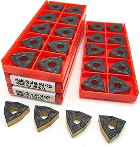 Txrh Drehbank Carbide WNMG080408 PM 4225 Superharten Äußeren Metalldrehwerkzeug Fräswerkzeuge WNMG 080404 Drehwerkzeug (Angle : WNMG080408 PM 4225)