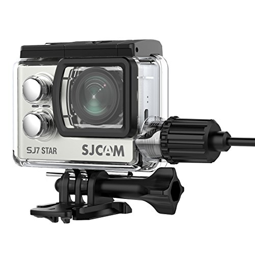 Dust Proof Outdoor Housing (SJCAM SJ7 Camera Waterproof Case with Motorcycle Charger Housing Case Dust Rain Scratch Proof Camera Cover Design for Outdoor Use(Camera Not Included))