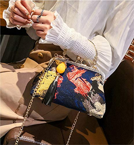 Purse Vintage Women's Graffiti Clutch Evening Black Party BeautyWJY Handbags xT1Hnzz