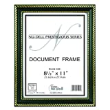 NuDell 8.5-Inch x 11-Inch Prestigious Traditional Document Frame Glass Face, Black