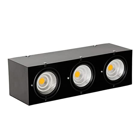 3 empotradas en Downlights el techo Hejuy luces LED negros 7y6gYbfv