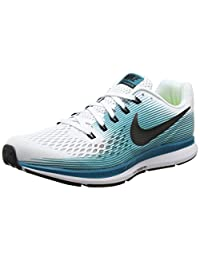 Nike Men's Air Zoom Pegasus 34, WHITE/BLACK/BLUSTERY