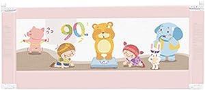 Bed Rail Bed Column Folding Safety Infant Child Protection Cover 150cm, 180cm, 200cm (Color : Pink, Size : L-200cm)