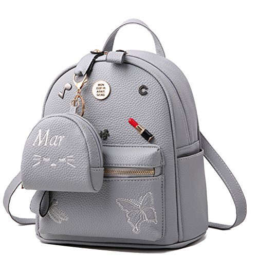 Casual School PU Small Girl Col8 Col8 Donalworld Flower Women Leather Print Backpacks Bags S8MwtA