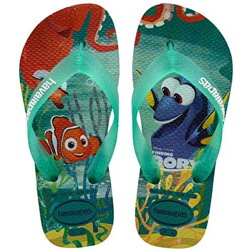 Havaianas Gemusterte Zehentrenner Mädchen/Junge Nemo E Dory ice blue (4137127.0642)