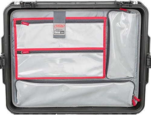 New Lid organizer for Pelican 1637 air case. 4 Front pouches & 1 pouch for tablets or small laptops. ()
