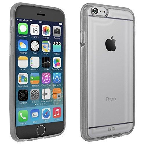 eFabrik Schutzhülle für Apple iPhone 6 / 6S Case Tasche Hülle Schutz Cover Schutztasche Handyhülle Bumper TPU Silikon Acryl Glas klar transparent schwarz