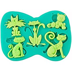 Vivian 3D Cat Shape Silicone Chocolate Fondant Cake Mold Sugar Craft Decor Baking Tool