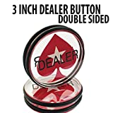 3 inch Acrylic Double Sided Poker Dealer Button