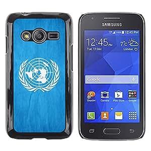 TopCaseStore / la caja del caucho duro de la cubierta de protección de la piel - United Nationas Grunge Flag - Samsung Galaxy Ace 4 G313 SM-G313F
