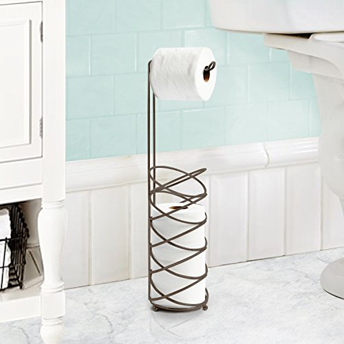 - Inspired Living toilet-paper-holders, Tower Spiral, BRONZE
