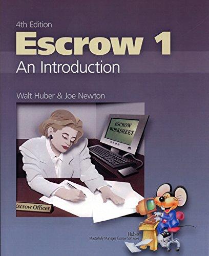 Escrow 1 An Introduction