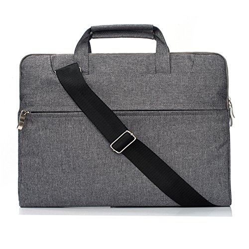 Apple Macbook Air Cases 13 Inch A1369/A1466 Sleeve Bag with Handle Strap,Polyester Fabric Crossbody Briefcase with Accessory Pocket for 13