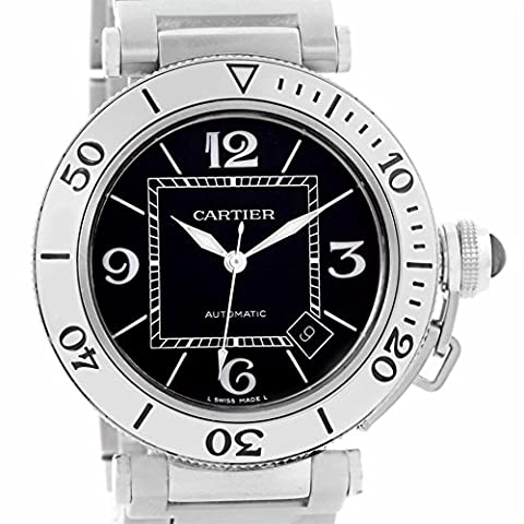 Cartier Pasha automatic-self-wind mens Watch W31077M7 (Certified Pre-owned) (Cartier Watch Women Black)