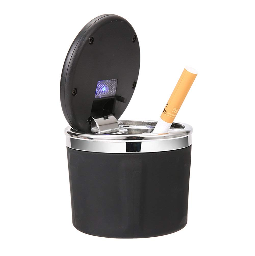 AO Car Ashtray Short May Cover The Board Car Universal Multi-Function Creative Personality Covered Car Male 7.5X7.5cm (Color : Silver) by AO ashtrays (Image #3)