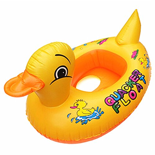 [thitiwat Duck Design Cute Kids Baby Child Inflatable Swimming laps Pool Swim Ring Seat Float Boat Water Sports (Yellow)] (Yellow Zoot Suit)