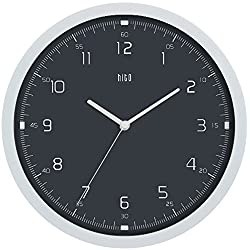 HITO Modern Colorful Silent Non-ticking Wall Clock- 10 Inches (Gray#4)