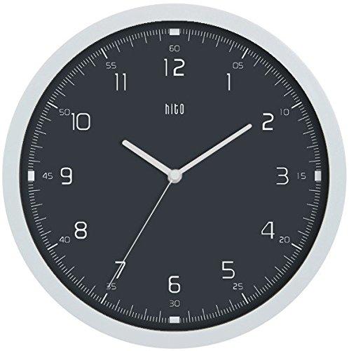 HITO Modern Colorful Silent Non-ticking Wall Clock- 10 Inche