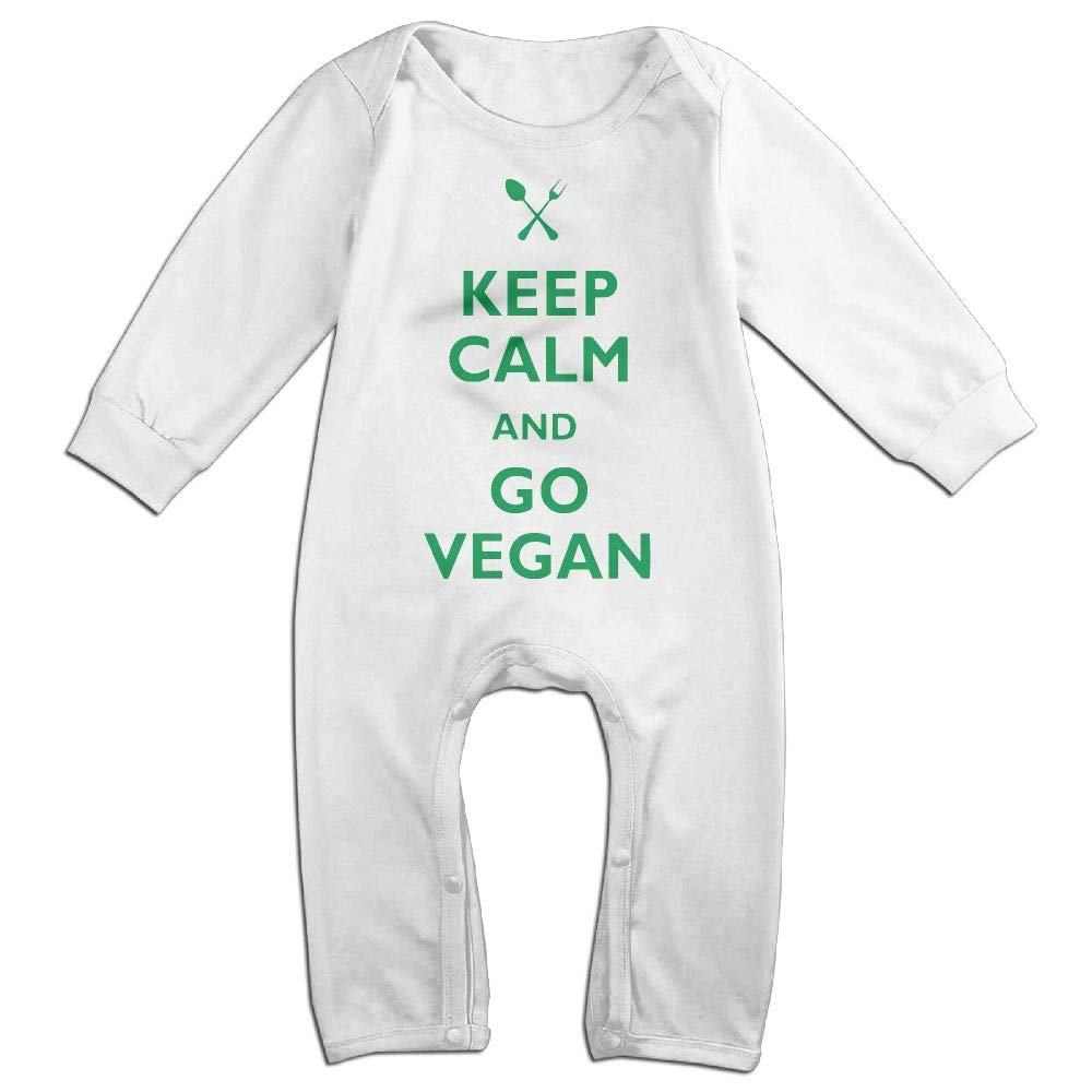 UGFGF-S3 Keep Calm /& Go Vegan Long Sleeve Newborn Baby Bodysuit for 6-24 Months Bodysuit
