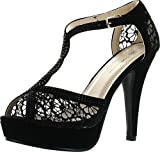 Top Moda Hy-5 Open Toe Crochet High Heel Sandals