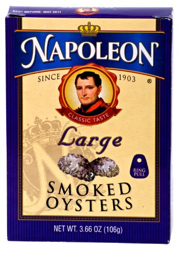 Napoleon LARGE SMOKED OYSTERS 3.66oz (3 Pack)