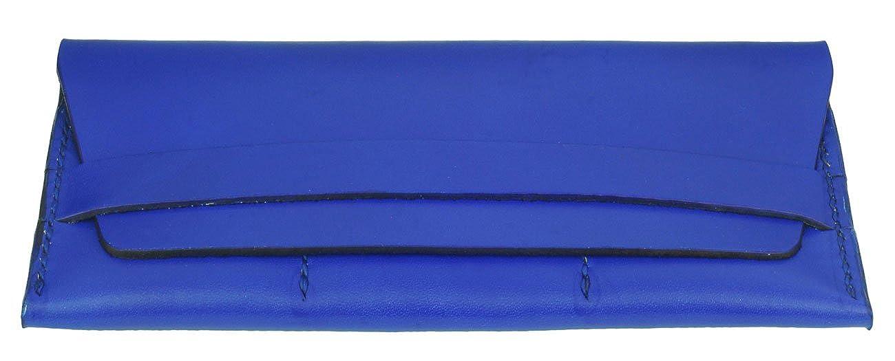 Handmade Passport and Cash Pocket Navy Blue 3 CC Slots Leather Passport Wallet