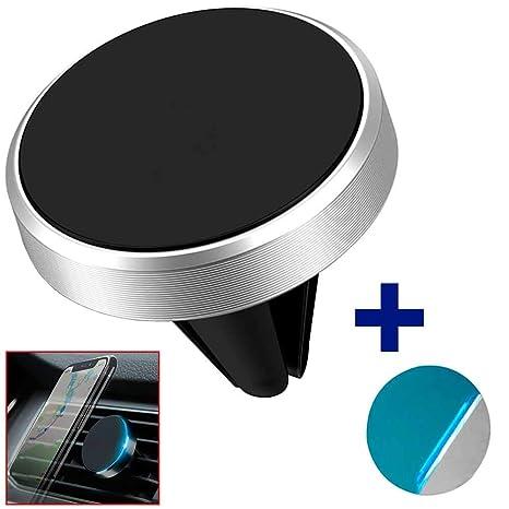 Ociodual Soporte Magnetico para Rejilla de Coche con Iman Potente Telefono GPS Plata