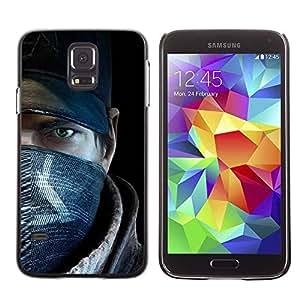 Paccase / SLIM PC / Aliminium Casa Carcasa Funda Case Cover para - Rebel Man - Samsung Galaxy S5 SM-G900