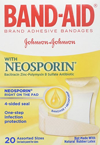 BAND-AID With Neosporin Bandages Assorted Sizes 20 Each ( Pack of - Aid Antibiotic Bandages Band