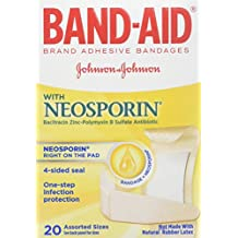 BAND-AID With Neosporin Bandages Assorted Sizes 20 Each ( Pack of 2)