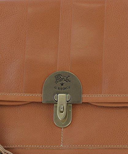 Il Bisonte Borsa A Spalla Donna A2648E835 Pelle Arancione