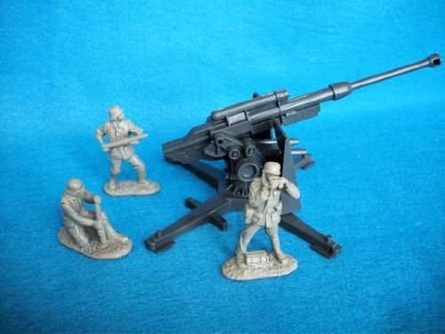 Classic Toy Soldiers WWII German 88mm Cannon with 3 man crew by Classic Toy Soldiers, (German Cannon)