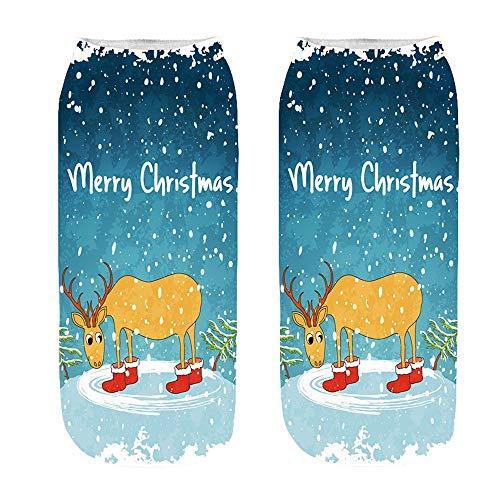 Happy Halloween Christmas - Franterd Unsex 3D Christmas Halloween Socks Casual Work Business Medium Sports Socks by Franterd (Image #1)