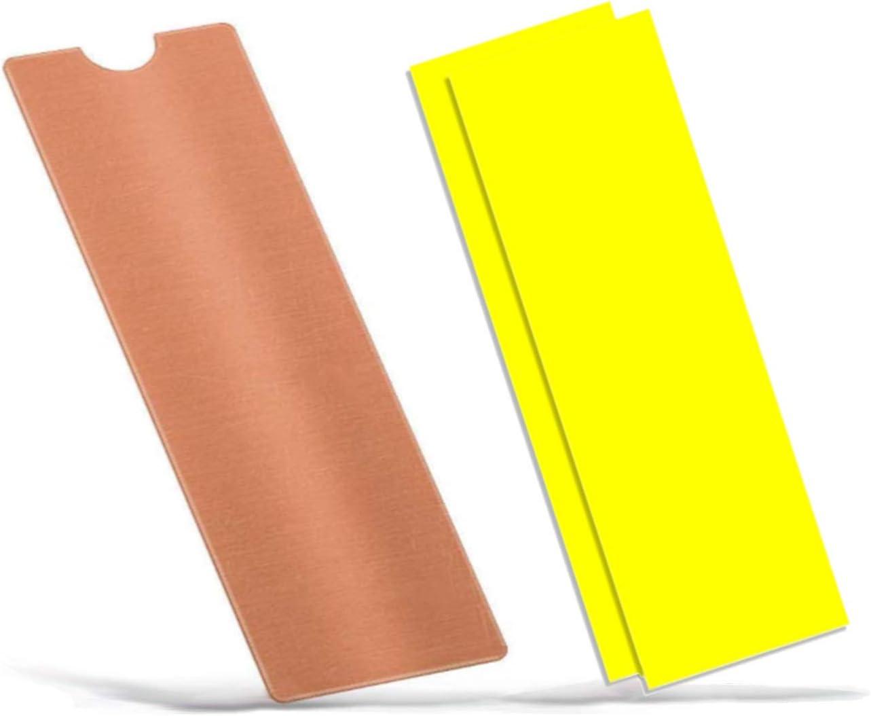 Easycargo Laptop M.2 Heatsink Kit, Copper Heat Sink + Thermal pad 1mm 0.5mm for Cooling Laptop M.2 2280 SSD (1-Pack)