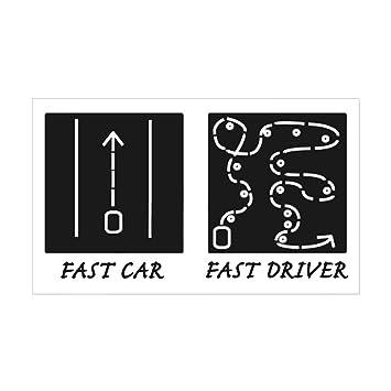 Cafepress fast car fast driver sticker rectangle rectangle bumper sticker car decal