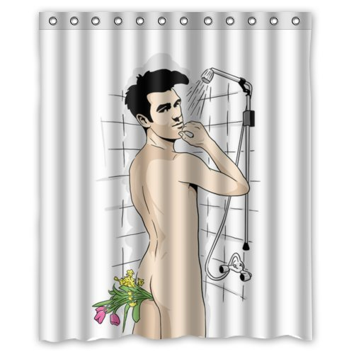 Shower curtains with naked men, lahaie facial