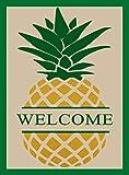 ShineSnow Vintage Welcome Pineapple Garden Flag 28 x 40, Double Sided Home Yard Decor House Flag, Seasonal Outdoor Flag Spring Summer Gift