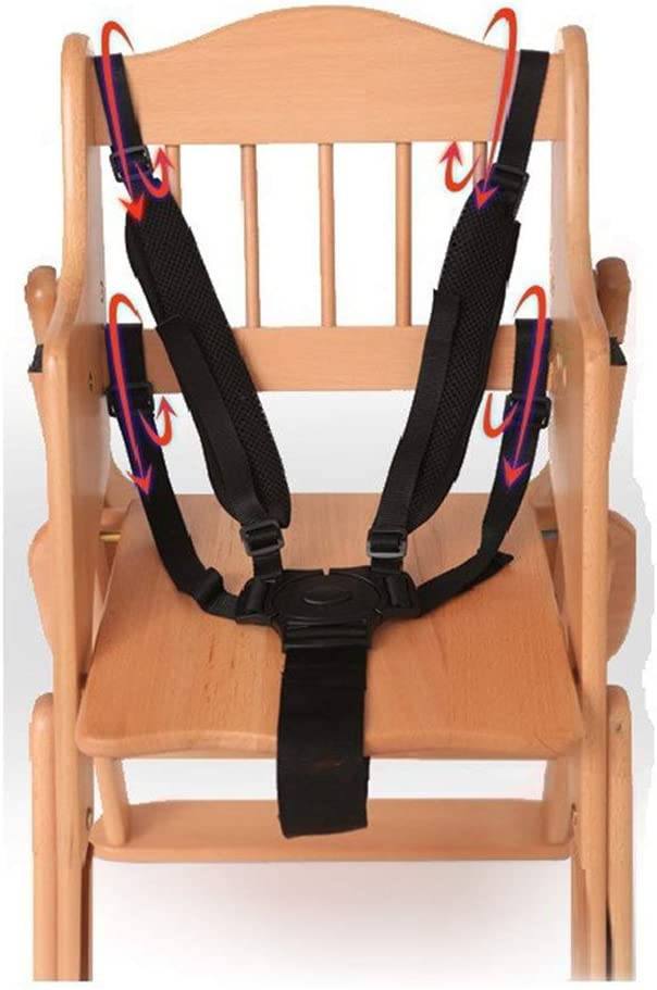 Black Seat Belt Adjustable 5 Point Pushchair Universal Stroller Buggy Baby Safety Strap Harness High Chair Child