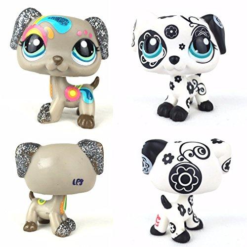 Porcupine Dog Costume (tongrou 2PCS #1613 #2344 Rare Littlest Pet Shop Dalmatian Puppy Dog Blue eye LPS)