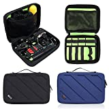 Travel Gopro Bag Action Camera Case for Carrying Gopro Hero 6, 5, 4 and AKASO EK5000 V5 4K WIFI Action Camera Accessories Bag Organize(Black)