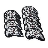 9pcs/set golf Iron club head covers King skull iron cover (Black)