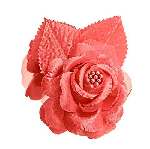 shia 12 Silk Roses Wedding Favor Flower Corsage Coral