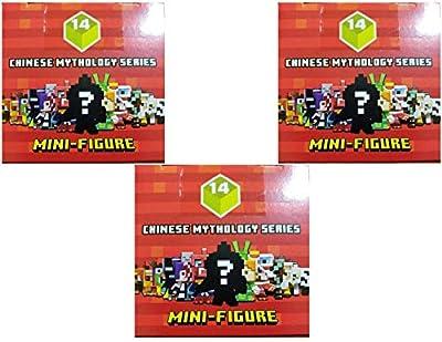 Minecraft Blind Box Chinese Mythology Mini Figure Series 14 (3 Blind Boxes)