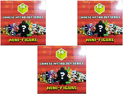 (Minecraft Blind Box Chinese Mythology Mini Figure Series 14 (3 Blind Boxes))