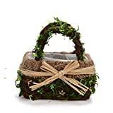 Byher 12167 Preserved Moss Flower Basket for Girl Wedding (Large)
