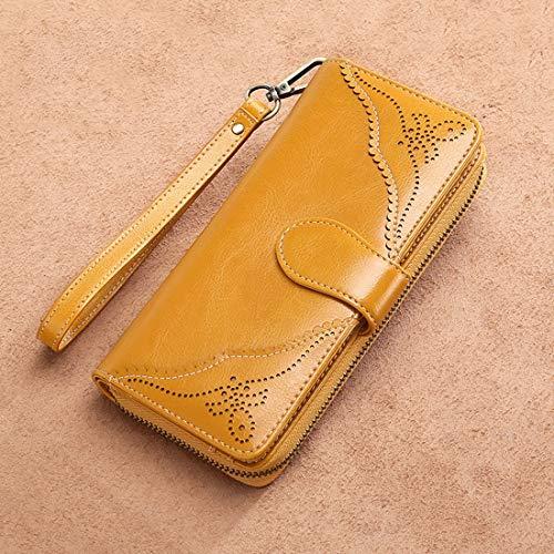 Tracolla Black A In Lunga color Zip Pelle Borse Portafoglio Cvthfyk Da Per Yellow Donna Con vwOZgRzxq
