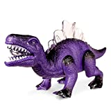 Electronic Dinosaur, KINGBOT Electronic Walking Dinosaurs Battery Operated Robot with Roaring and LED Lights Interactive Dinosaur Party Favors Toy for Girls and Boys