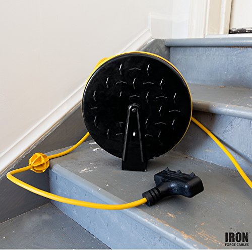 30ft Retractable Extension Cord Reel With 3 Electrical