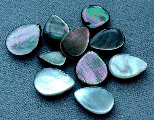 Exotic Tahitian Mop Flat Briolette Beads for Jewelry Making 004334
